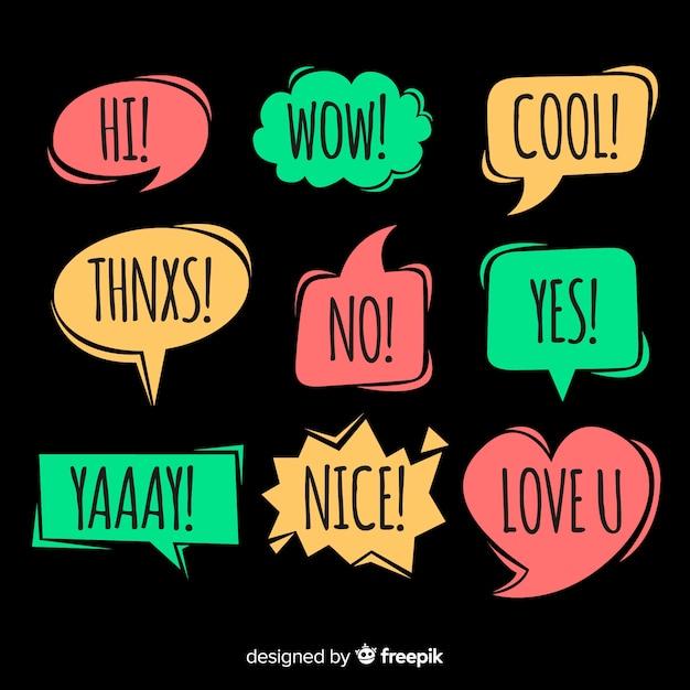 Creative colourful speech bubbles for dialog Free Vector