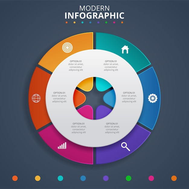 Creative concept for infographic. vector illustration Premium Vector