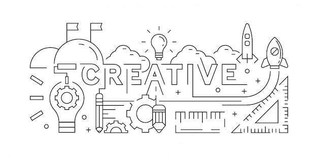 Creative concept Premium Vector