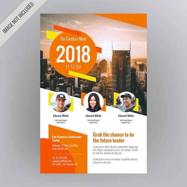 creative conference event brochure vector premium download
