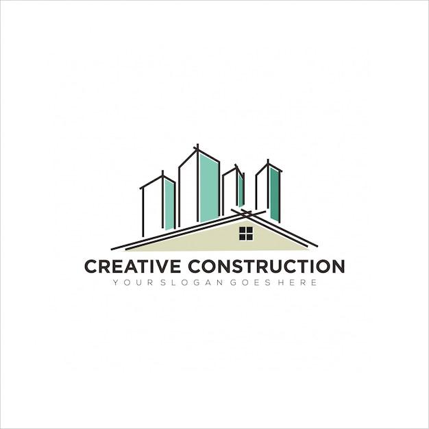 Creative contraction logo Premium Vector