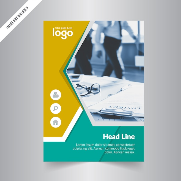 Creative Corporate Brochure Template With Two Color Variation Premium Vector