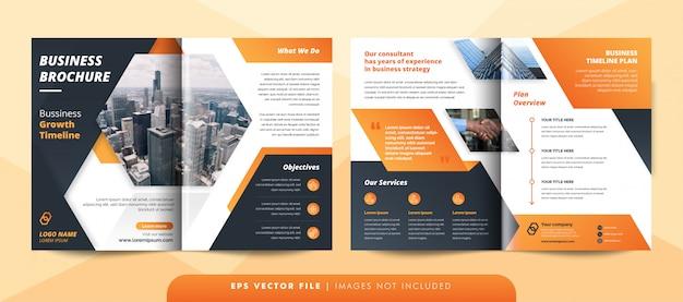 Creative corporate business brochure template. Premium Vector