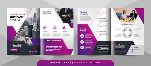 創造的な企業のパンフレットのテンプレートです。 Premiumベクター