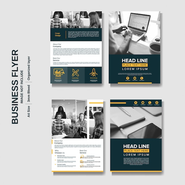 Creative corporate business flyer background Premium Vector