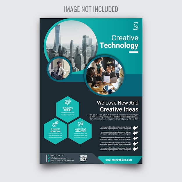 Creative corporate business flyer Premium Vector