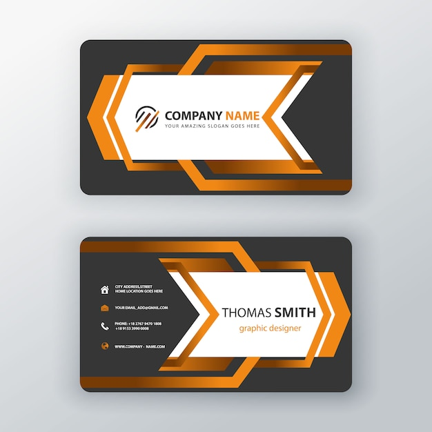 Creative corporate card Free Vector