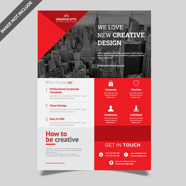 Creative corporate flyer Premium Vector