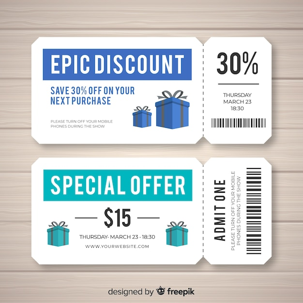 Creative coupon template for sales Free Vector