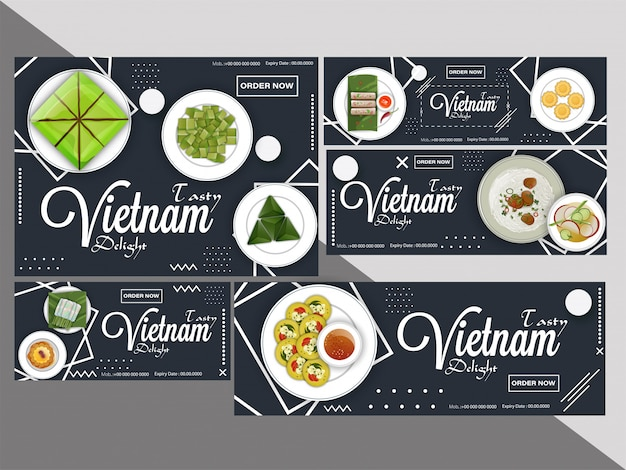 Creative coupon or voucher set Premium Vector