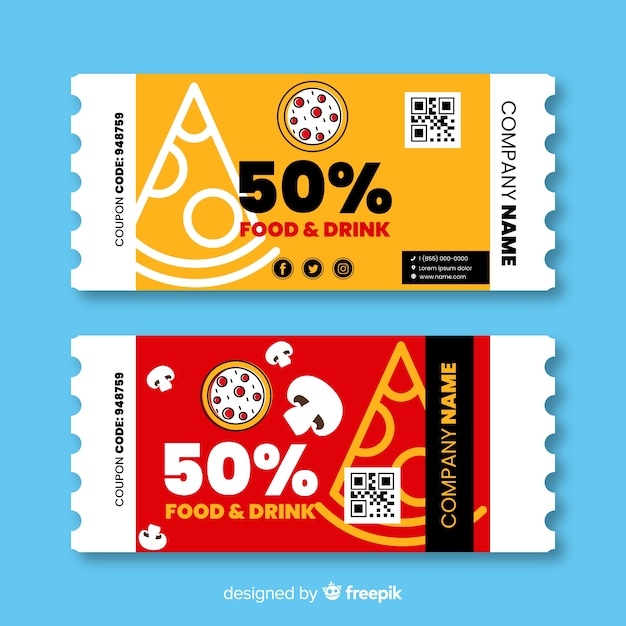 Creative coupon or voucher template design Vector | Free Download