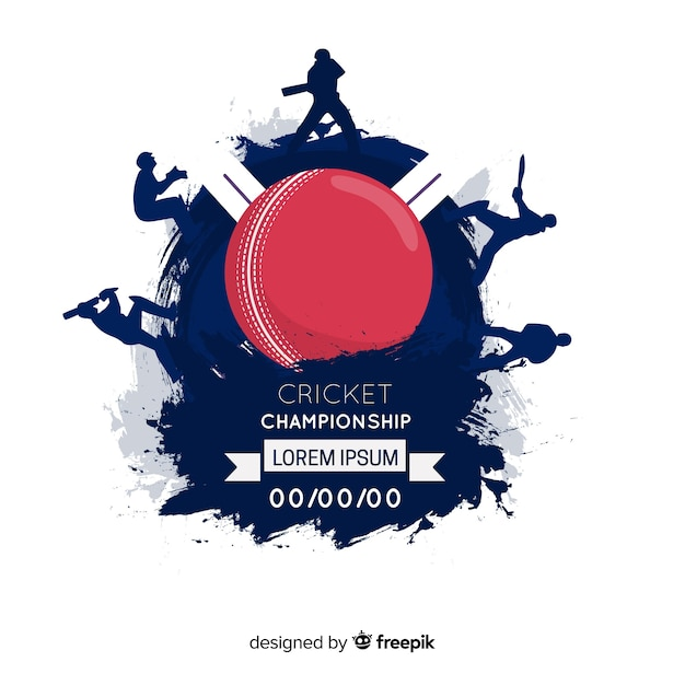 Creative cricket championship background Free Vector