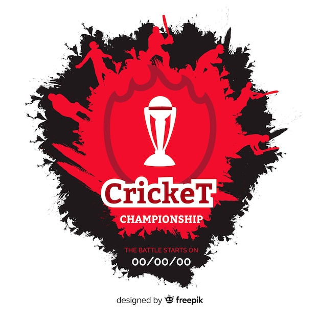 Creative cricket championship background Free Vector