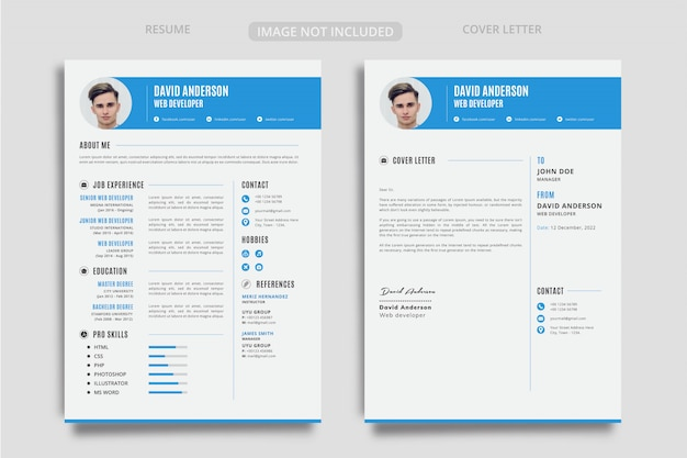 Creative cv resume design Premium Vector