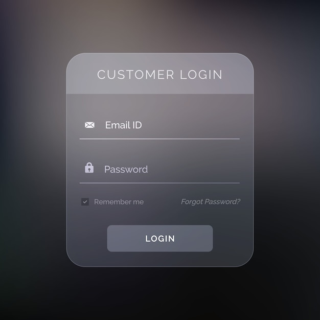 Creative dark login form Free Vector