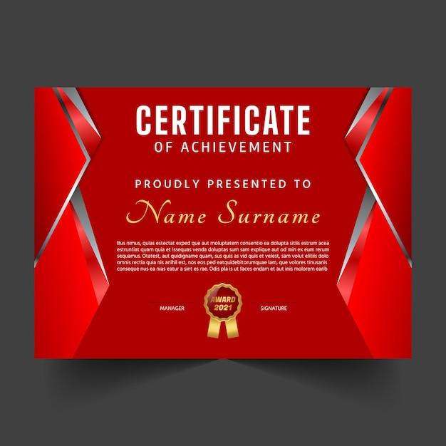 創造的な卒業証書と証明書のテンプレート Premiumベクター