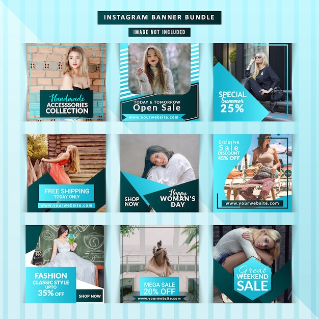 Creative discount instagram post Premium Vector