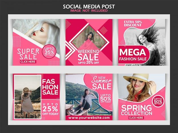 Creative discount instagram post Premium Vector