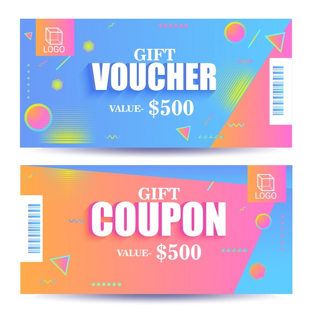 creative discount voucher gift card or coupon template