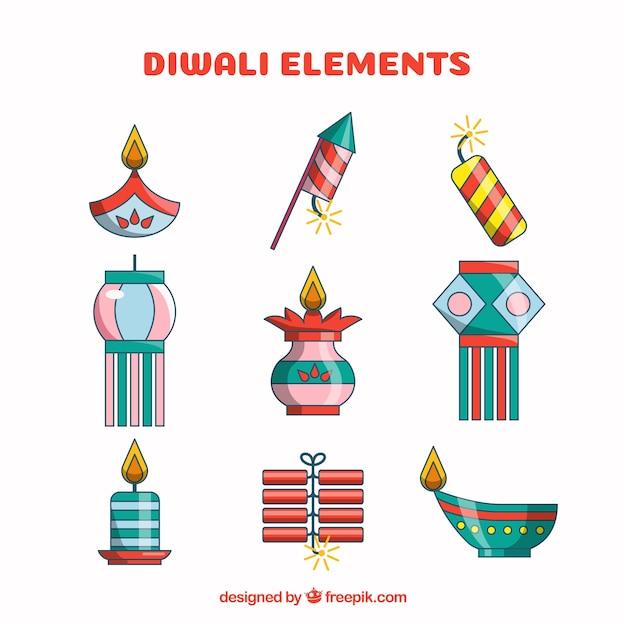 Creative diwali elements