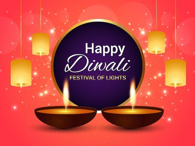 Creative diwali festival greeting card with background vector creative diwali festival greeting card with background premium vector m4hsunfo
