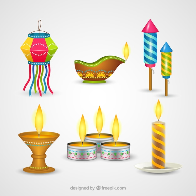 Creative diwali lamps collection