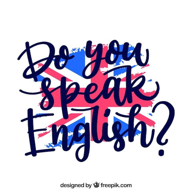 Creative вы говорите на английском фоне Бесплатные векторы