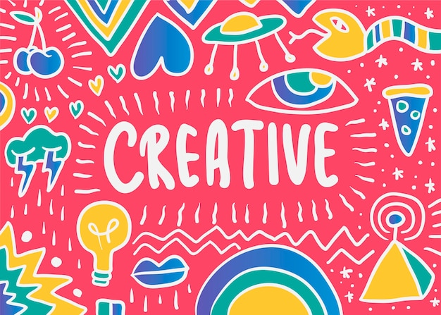 Creative doodle illustration Free Vector
