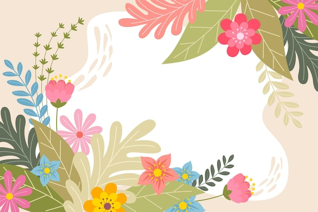 Creative drawn spring background Free Vector