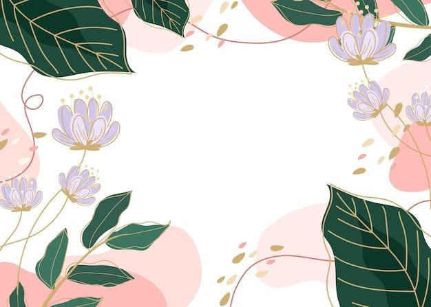 創造的な描かれた春の壁紙 無料ベクター