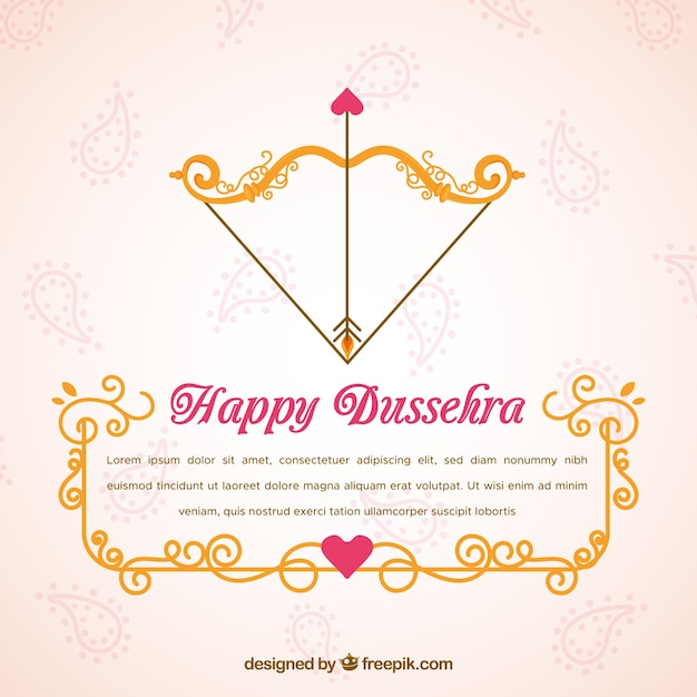 Creative dussehra background Free Vector