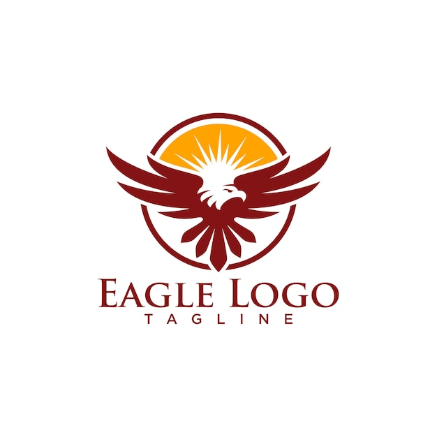 Creative eagle logo stock vector Premium Vector