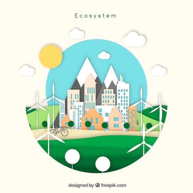 Creative ecosystem concept Free Vector