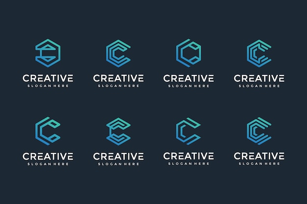 Creative and elegant c letter logo icon for luxury business Premium Vector