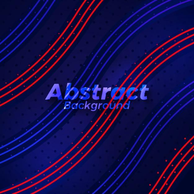 Creative elegant neon sports background Premium Vector