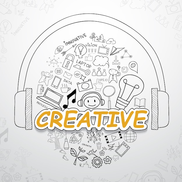 Creative elements collection Free Vector