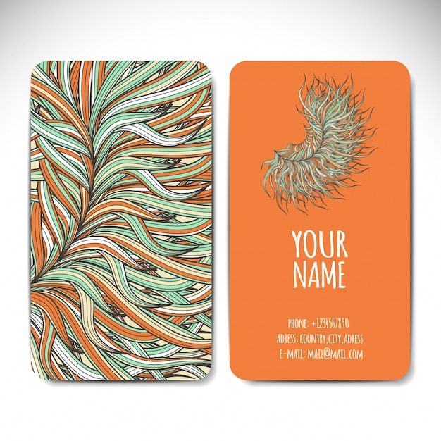 Creative ethnic style business card