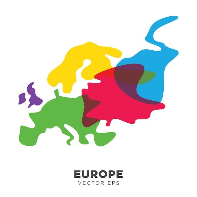 Creative Europe Map Vector Premium Vector
