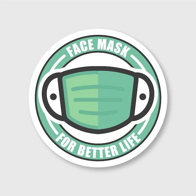 Creative face mask logo template Free Vector