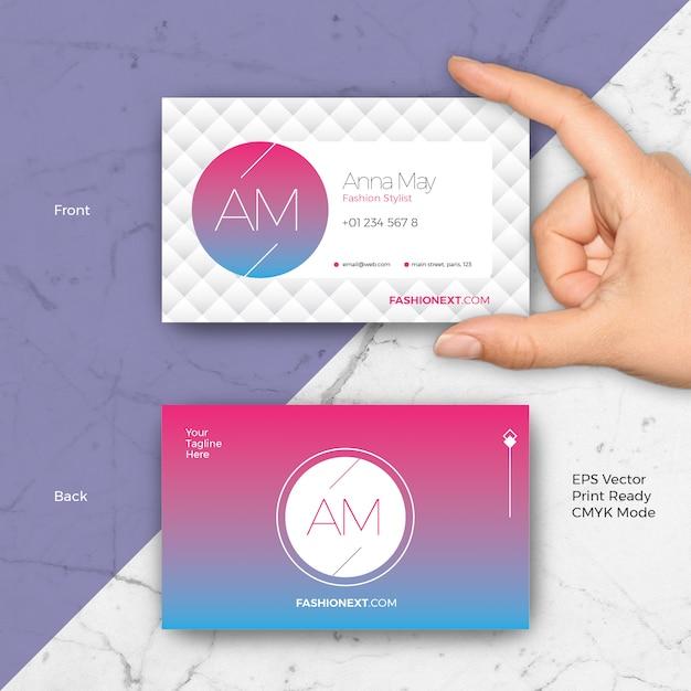 Creative Fashion Business Card Premium Vector