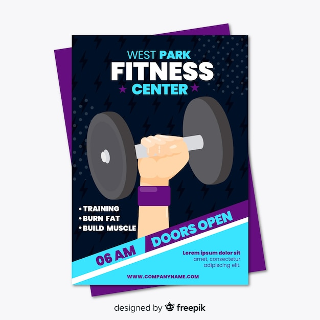 creative fitness flyer template concept vector free download