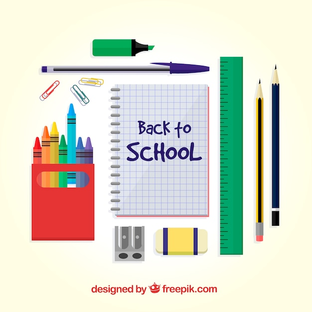 Creative flat back to school design