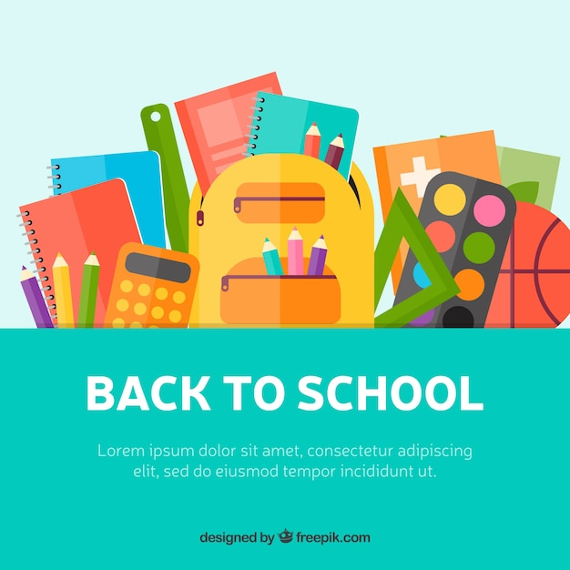 Creative flat back to school illustration Free Vector