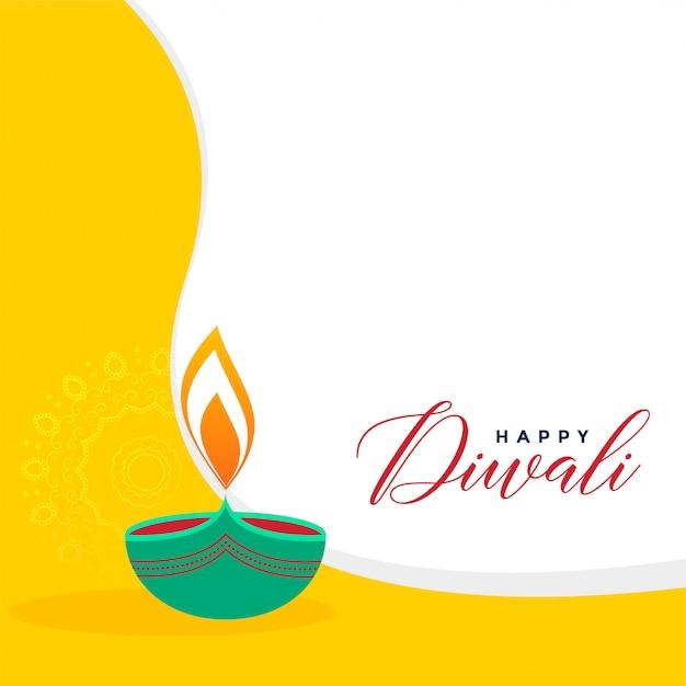 Creative flat style diwali greeting background Free Vector