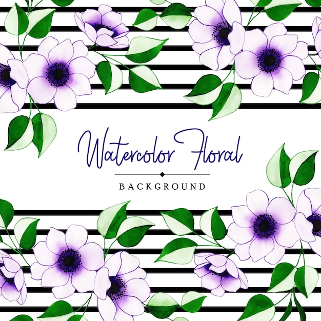 Creative floral background Premium Vector