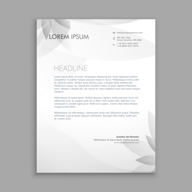 creative floral letterhead template vector free download