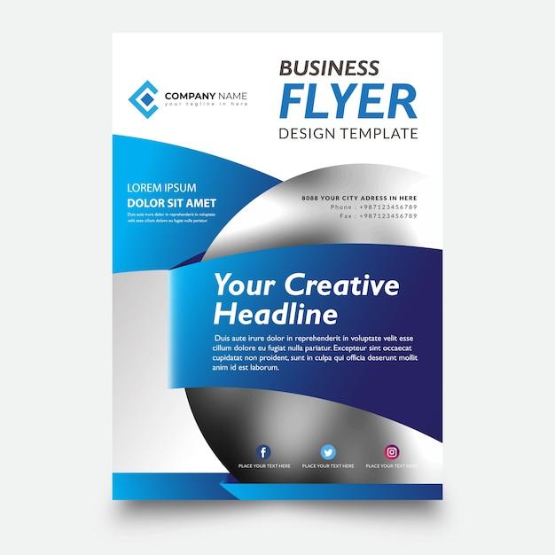 Creative flyer template design Premium Vector