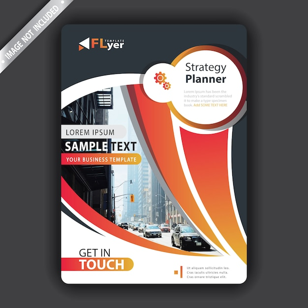 Creative flyer Free Vector