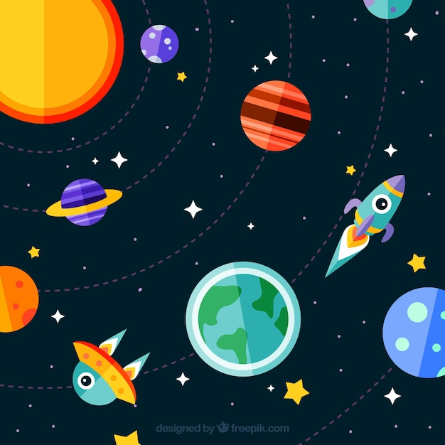 Creative galaxy background vector free download for Outer space stage design