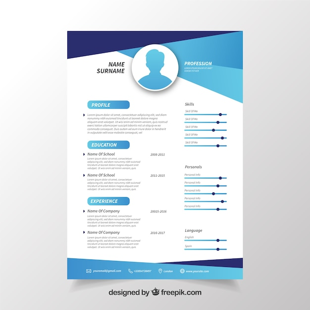 Curriculum Vitae Moderno Download Adfo
